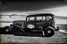 12x18 in. Garage Poster, 1933 Ford Sedan #34, Vintage Hot Rod Art Man Cave Decor
