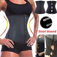 Women Body Shaper Waist Trainer Cincher Underbust Shapewear Yoga Plus Size US