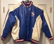 Vintage Indy Racing League IndyCar Series Leather Pit Jacket 90s Blue SZ XXXL