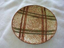 "VTG Blue Ridge Brown & Green Plaid Saucer Plate 6 1/4"""