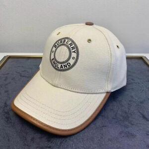 New Unisex Vintage Burberry Baseball Hat Cap Medium White/Brown