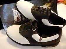 Mens Ashworth Golf Saddle Shoe Black/White size 11 EUR 44.5 New Never Worn