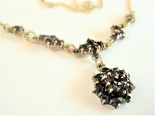 Antique Collier Real Silver Gold Plated with Garnet, 44,8 cm