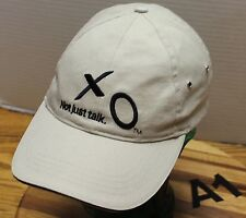 "BEIGE XO COMMUNICATIONS ""NOT JUST TALK"" HAT STRAPBACK ADJUSTABLE VGC A1"