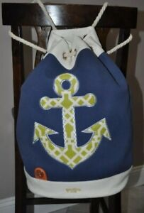SPARTINA HEYWARD 449 ANCHOR Nautical Designer BACKPACK/BEACH BAG - Excellent