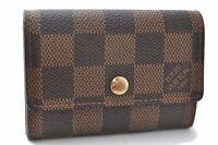 Authentic Louis Vuitton Damier Porte Monnaie Plat Coin Case N61930 LV A8915