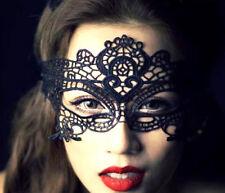 Black Venetian Fancy Dress Lace Mask Masquerade Ball Party Eye Costume Halloween