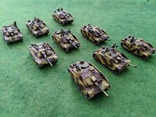 LOT German STuG assault guns w/ riders 15mm WW2 FoW Bolt Action & other rules