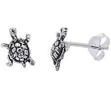 CUTE TURTLE STUDS .925 Sterling Silver Earring