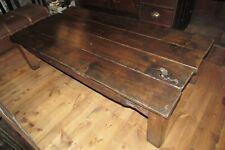 Antique reclaimed oak boards & joists COFFEE TABLE 5ft rustic primitive 4 plank