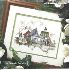 Cross Stitch Pattern Leaflet UNITY BIRDHOUSES ~ Birds, Flowers & Bird Village