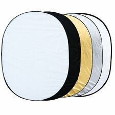 """5 in 1 collapsible reflector oval photo studio 90 x 120 cm (35 """"x 47 ')  BT Y6A4"""