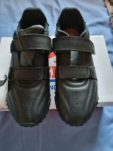 Lonsdale Fulham Junior Black Unisex Trainers Leather Size 3 rrp £44NEW IN BOX