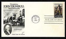 #1361 6c John Trumbull - Fleetwood FDC