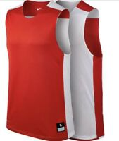 NIKE League Mesh Reversible Practice Basketball Tank Jersey Red Mens M L XL 2XLT
