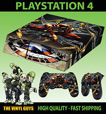 PS4 Skin Stark Dark Spider Suit Red Gold Web Shield Sticker + 2x Pad Vinysl LAID