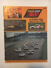 1988 KODAK COPIER 500 AT WATKINS GLEN RACE PROGRAM 40th ANNIVERSARY EDITION