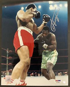 Joe Frazier Signed Photo 8x10 vs Muhammad Ali Autograph Boxing PSA/DNA Pose #1