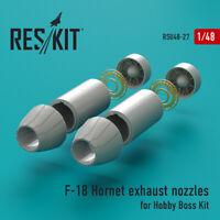 F-18 Hornet exhaust nozzles for Hobby Boss (Upgrade set) 1/48 ResKit RSU48-0027