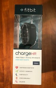 Fitbit Charge HR Wireless Activity Wristband - Black, Size Small, New in Box.