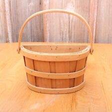 Small Wood Storage Display Decor Basket