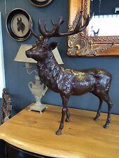 Bronze cerf Signée et Numéroté,impressionnant sculpture ,Cerf statue Rouge Renne