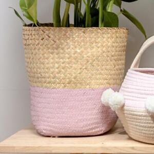 Pink Seagrass Basket