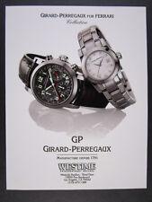 1998 Girard-Perregaux Ferrari F300 Chronograph watch photo vintage print Ad