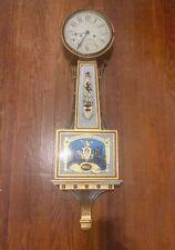 Vintage Henry Ford Musuem Reproduction Aaron Willard Hull Banjo Clock