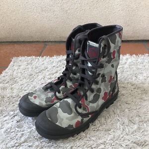 Palladium Mens Shoes Green Gray Baggy Snow Boots Camo Camoflauge Size 13
