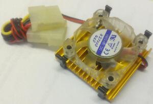 New 44mmx44mm 486/586 CPU Heatsink and 12V Molex Fan