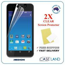 2X PREMIUM CLEAR SCREEN PROTECTOR FILM GUARD FOR MEDION E4002 (ALDI MOBILE)