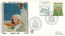 1979 POPE JOHN PAUL II MEXICO VISIT, SILK CACHET COVER