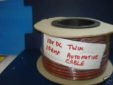 2 MTS 10 AMP TWIN CORE CABLE FIG OF 8 FOR TAXI & TWO WAY RADIO POWER FEEDS