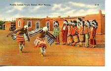 Pueblo Native American Indian Eagle Dance-Drum-New Mexico-Vintage Postcard