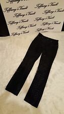 Women's Embroidered Black Suede Pants Sz. 8