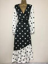 BNWT Coast Wrap Maxi Occasion Dress Black/ White Spot Occasion Dress Size 18