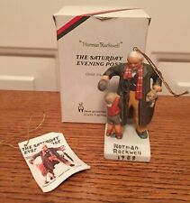 """Norman Rockwell Christmas Ornament 1988 """"Discovery� Ceramic Dave Grossman"""