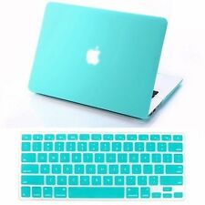 "Hard Rubberized Macbook Case for Air Pro Retina 11"" 12"" 13"" 15"" + Keyboard Cover"