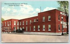 Prairie du Chien Wisconsin~Rosencrans Sanitarium & Hotel~Workers Gathered~1917