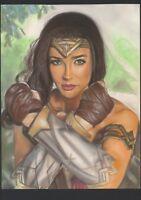 a02063 Wonder Woman original drawing 11x17 Alex Cliff ⭐AlbertStoneGallery⭐