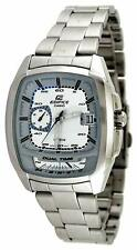 Casio #EF321D-7AV Men's Edifice Stainless Steel Dual Time Zone Sports Watch