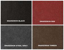 Snake Skin  Faux Leather Upholstery Embossed Vinyl in RED SNAKESKIN   per yard