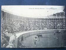 40 ,mont de marsan ,les arènes ,  courses espagnoles en 1908