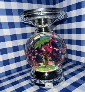 New Bath & Body Works Flamingo Water Globe Candle Holder Pedestal - Lights Up!