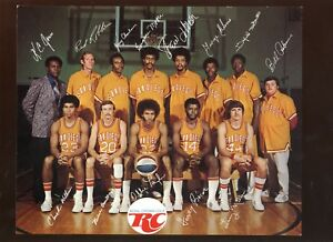 Circa 1972 ABA Basketball San Diego Conquistadors Royal Cola Team 8  X 10 Photo