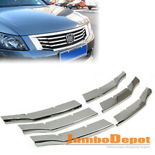 Chrome Front Center Bumper Grille Vent Insert For Honda Accord 2008 2009 2010