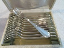 vintage french silver-plated Christofle 12 pastry cake forks Spatours mint v69