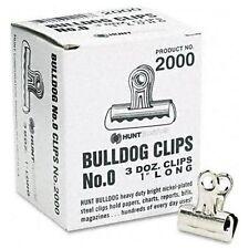 "Elmer's Boston Bulldog Clips - 1"" Width - 36 / Box - Silver (EPI2000)"