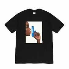 Supreme Water Pistol Tee Black Medium T-Shirt 100% Dead Stock & Matching Sticker
